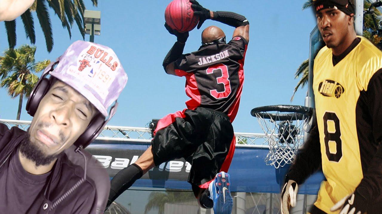 Slamball dunks