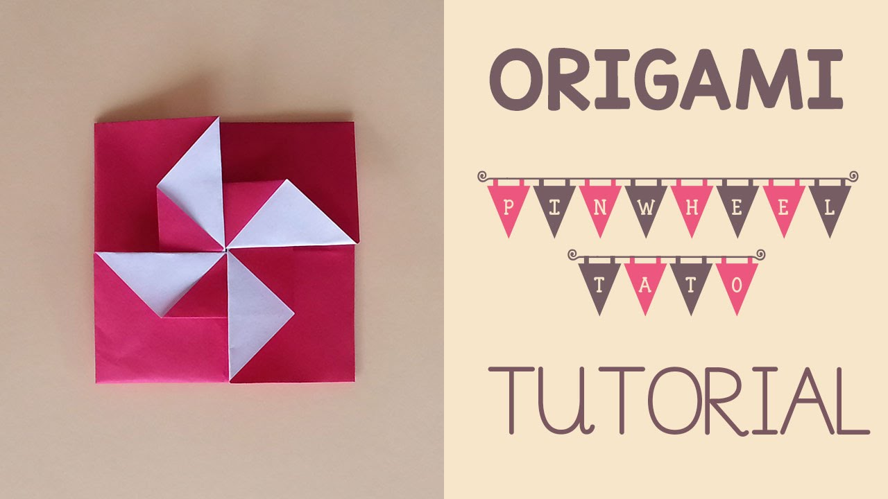 origami pinwheel tato tutorial youtube