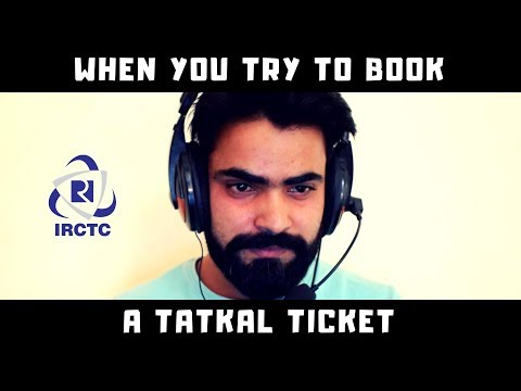Booking a Tatkal Ticket on IRCTC