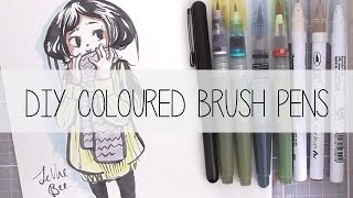 *~ DIY Coloured Ink Brush Pens! ~*