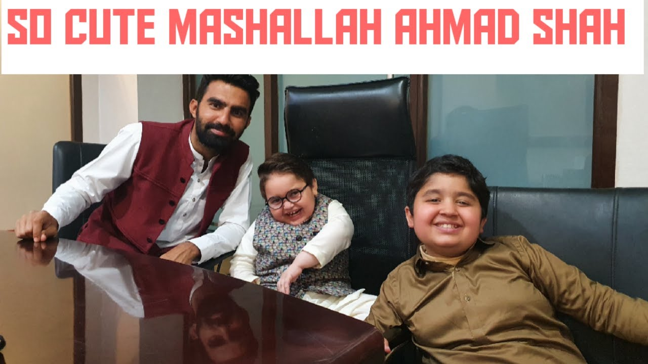 Ahmad Shah With his Brother Abubakar in Karachi Cutest Video 2021