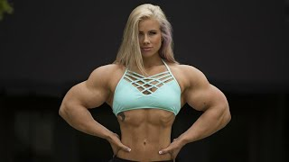FEMALES BODYBUILDING,- OLIVIA RENEE'S, IFBB MUSCLE? FITNESS MODEL, WORKOUT,