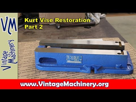 Kurt Vise Restoration Part 2 - Painting and Grinding the Base