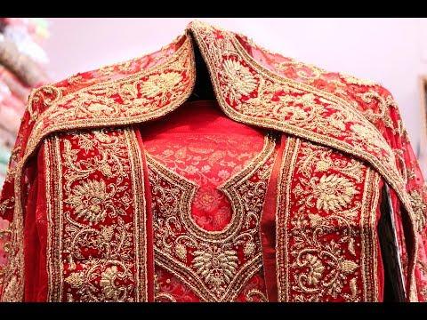 AR-435 The Royal Khada Dupatta Bridal Wear || Handcrafted || Zardozi Work || Stone Work