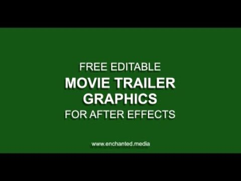 40 Best After Effects Templates for Movies