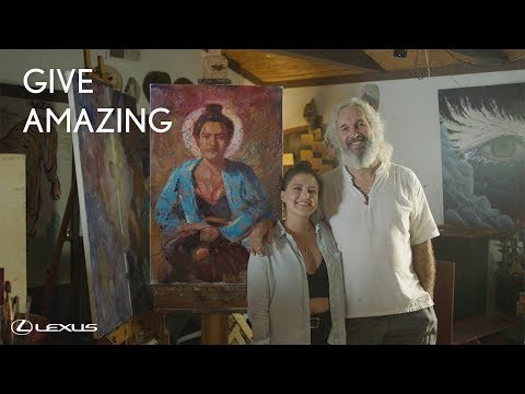 The Gift Of Art: Dave And Caleigh | Lexus Give Amazing