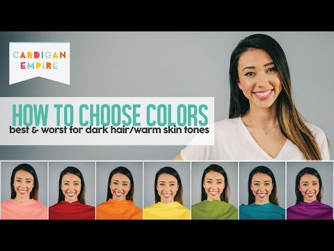 How To Wear The Right Color For Your Skin Tone - Dark Hair And Warm Skin (Autumn Season)