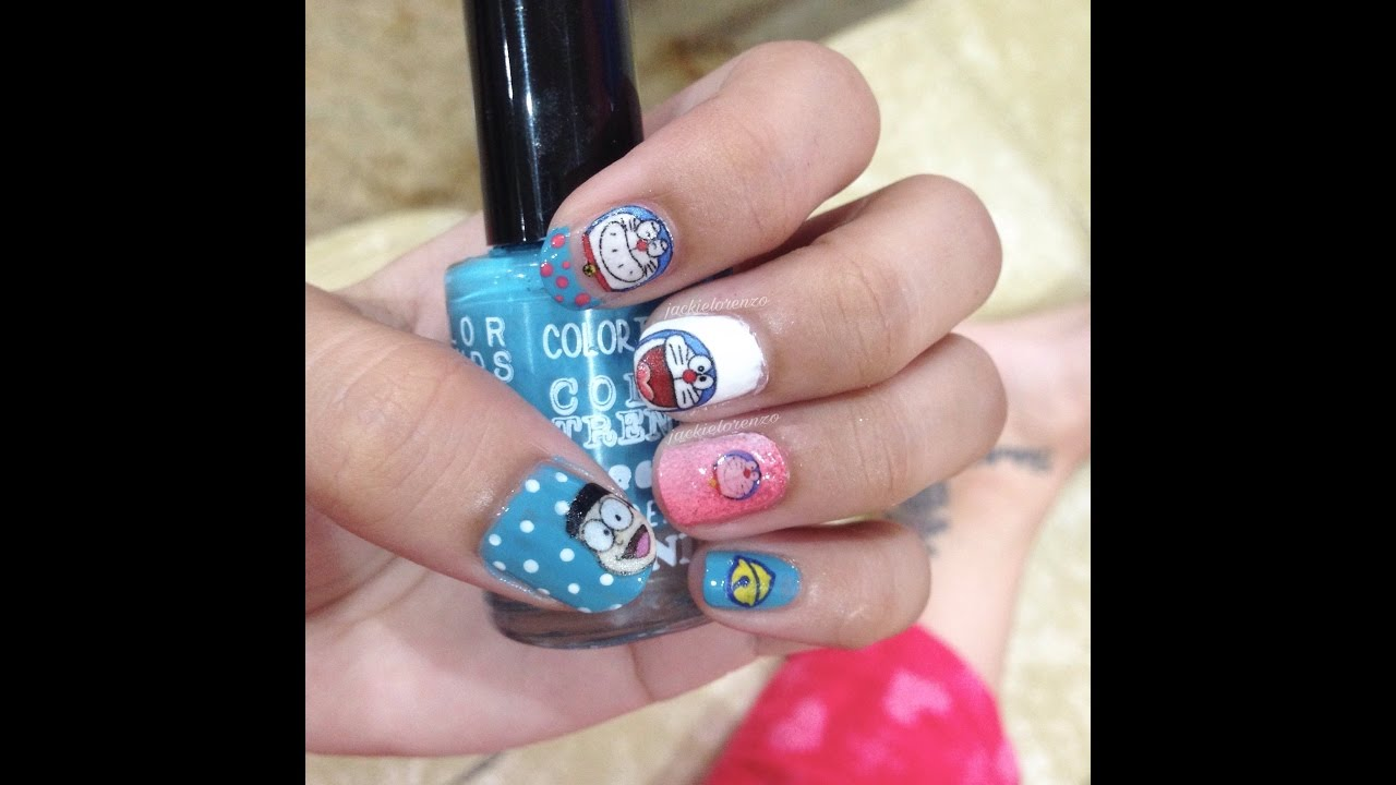 Doraemon Nail Art Youtube