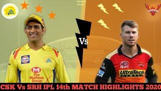 CSK Vs SRH IPL 14th Match Highlights 2020 | Daily sports news | Sports Story |