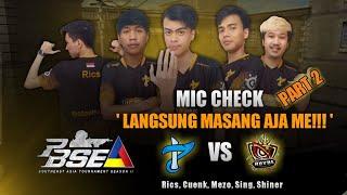 Langsung Masang Aja Me !!! Pb Sea Season 2 Mic Check Part 2