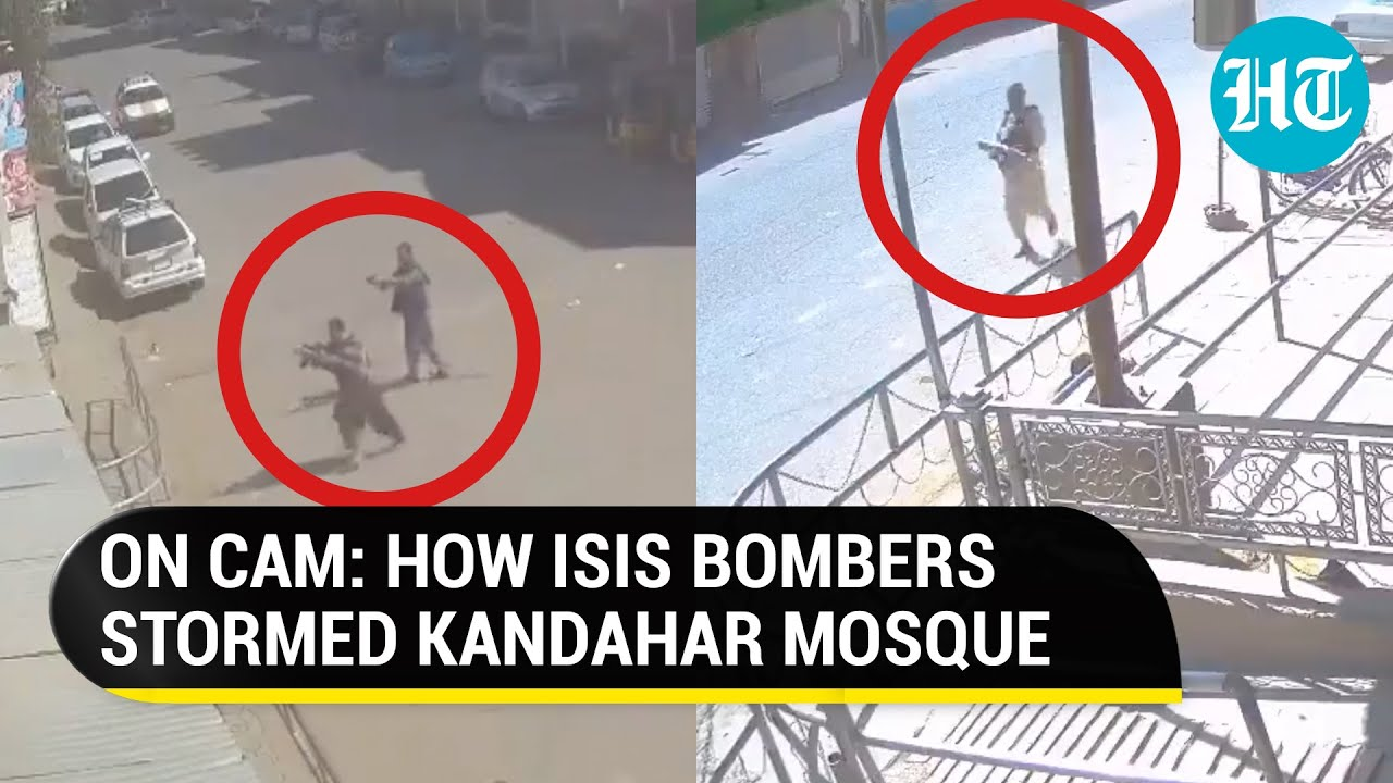 Download Watch: CCTV video of terror attack at mosque by ISIS in Taliban-ruled Afghanistan's Kandahar