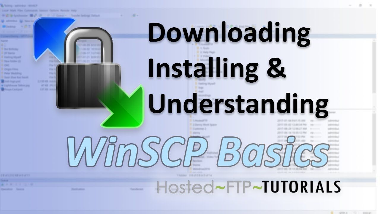 How to Use WinSCP Tutorial - downloading, installing and understanding  WinSCP