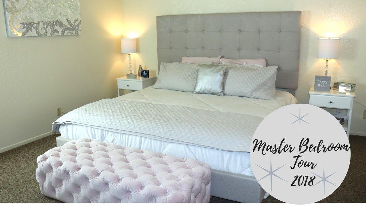 Master Bedroom Tour 2018 Elegant Gray Tones Room Tour