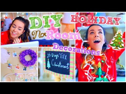 DIY Holiday Room Decorations! + Cute & Easy Decor Ideas!