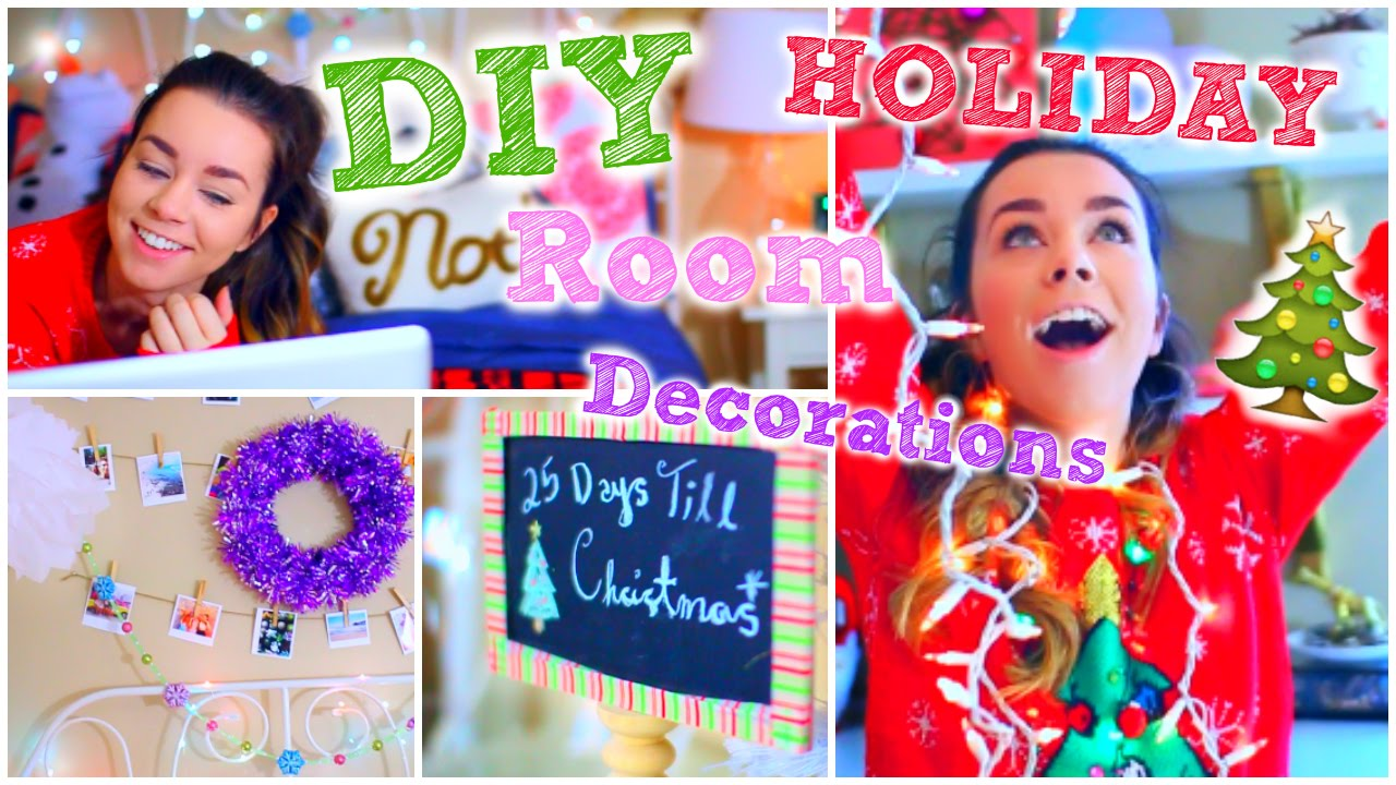 diy holiday room decorations! + cute & easy decor ideas! - youtube