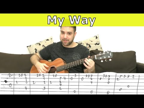 Fingerstyle Tutorial: My Way (Full Instrumental) - Guitar Lesson w/ TAB