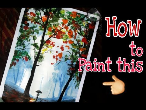 Acrylic Landscape painting tutorial || how to paint with acrylics