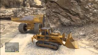 Grand Theft Auto 5 - HUGE dump truck and BULLDOZER RAMPAGE GTA V