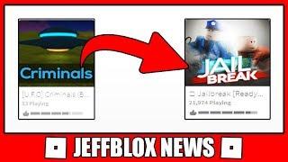 YOUTUBER FEZ UM JOGO BASEADO NO JAILBREAK(ROBLOX) ‹ JeffBlox News ›