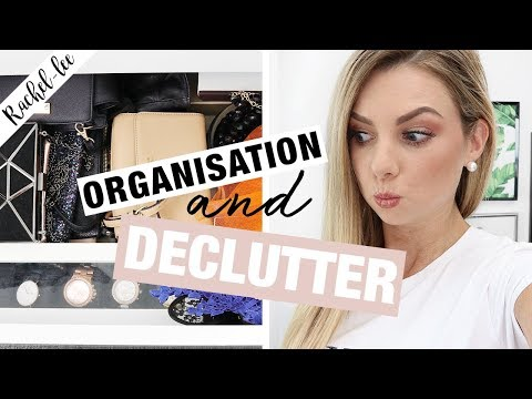 Declutter & Organization of My Accessory Storage! Recycled Storage!