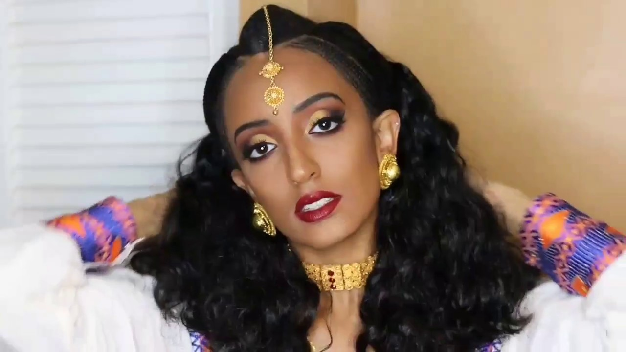 eritrean wedding inspired make up