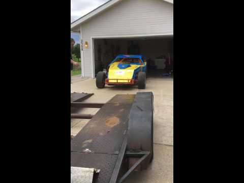 Loading race car onto the trailer