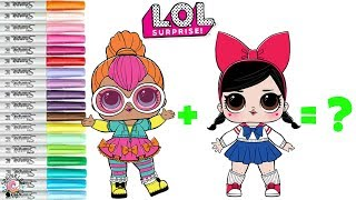 LOL Surprise Dolls Coloring Book Mash UP Fanime & Neon Qt become Neanime