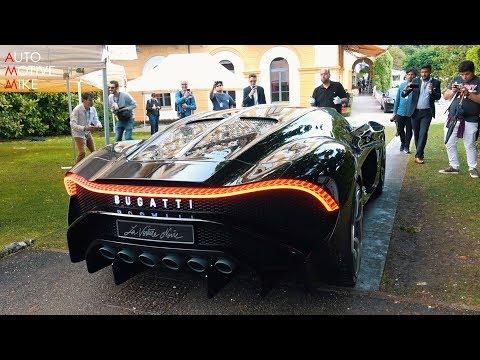 € 16.7 MILLION BUGATTI LA VOITURE NOIRE ON THE ROAD | Villa d'Este 2019
