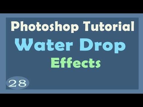 Water drop creation Effect apply on flower in photoshop | Photoshop Tutorial with PDF
