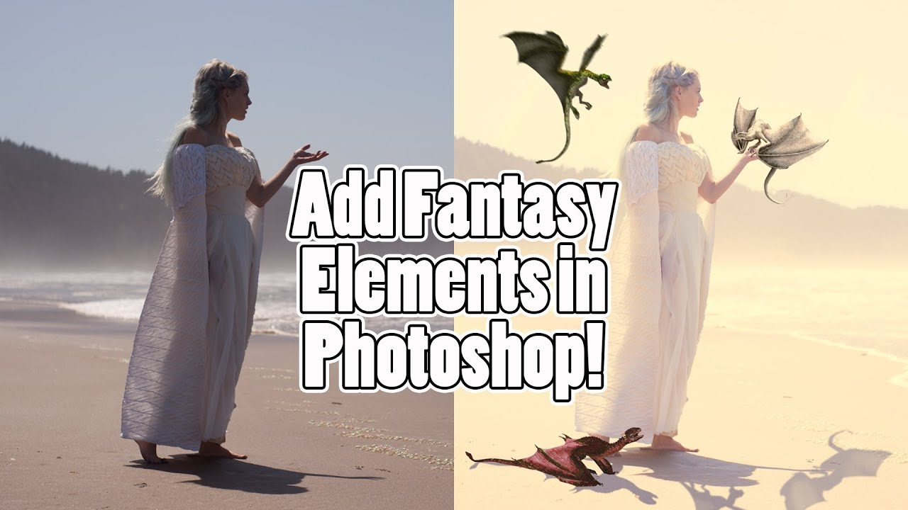 How To Add Objects In Adobe Photoshop: Daenerys Targaryen And Dragons  Tutorial