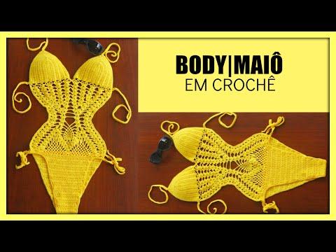 MAIÔ BODY DE CROCHÊ-PARTE II