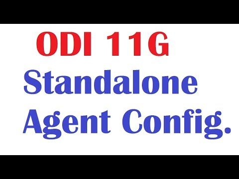 Oracle Data Integrator Standalone Agent Configuration in ODI 11g
