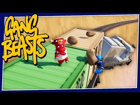 Gang Beasts - #234 - TRAIN CRASH! (New Update!!)