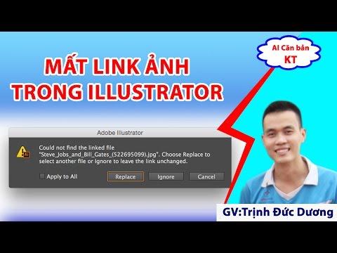 Could not find the linker file   Mất link ảnh trong Adobe illustrator   Tự Học Đồ Hoạ