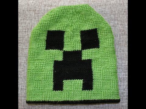 Шапка майнкрафт Crochet beanie ТУНИССКОЕ ВЯЗАНИЕ - YouTube 7282ac5546