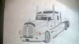 Kenowrth T600 Dibujado By Trucks Drawing