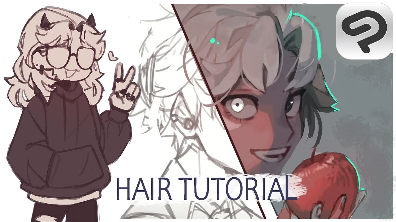 How I draw hair// Tips and Tricks in Clip Studio Paint