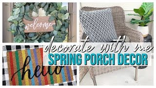 CLEAN & DECORATE WITH ME | SPRING & SUMMER PORCH DECOR 2019