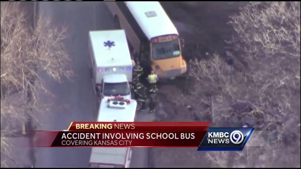 School bus involved in Kansas City crash