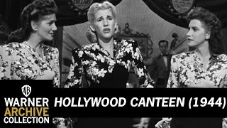 Hollywood Canteen (1944) – Andrews Sisters Sing Getting Corns For My Country