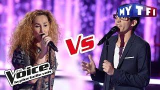 Vincent Vinel VS Guylaine « Love Me, Please Love Me » (M Polnareff) | The Voice France 2017 | Battle