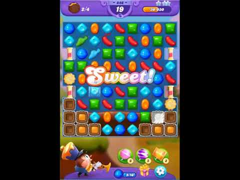Candy Crush Friends Saga Level 846 - NO BOOSTERS 👩‍👧‍👦 | SKILLGAMING ✔️