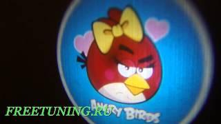 Angry Birds проекция логотипа из дверей вашего авто. Freetuning.ru