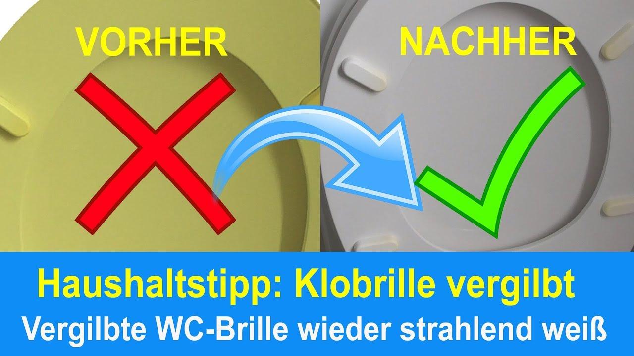 Relativ Vergilbte Klobrille reinigen - Gelb verfärbte Toilettenbrille FM95