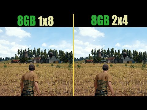 PUBG 8GB RAM (Single channel vs. Dual channel)