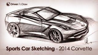 2014 Corvette C7 Stingray Designer Sketch Video