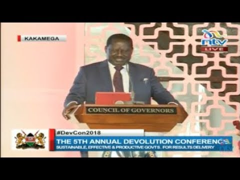 Mediocrity in African leadership responsible for our backwardness - Raila Odinga at #DevCon2018