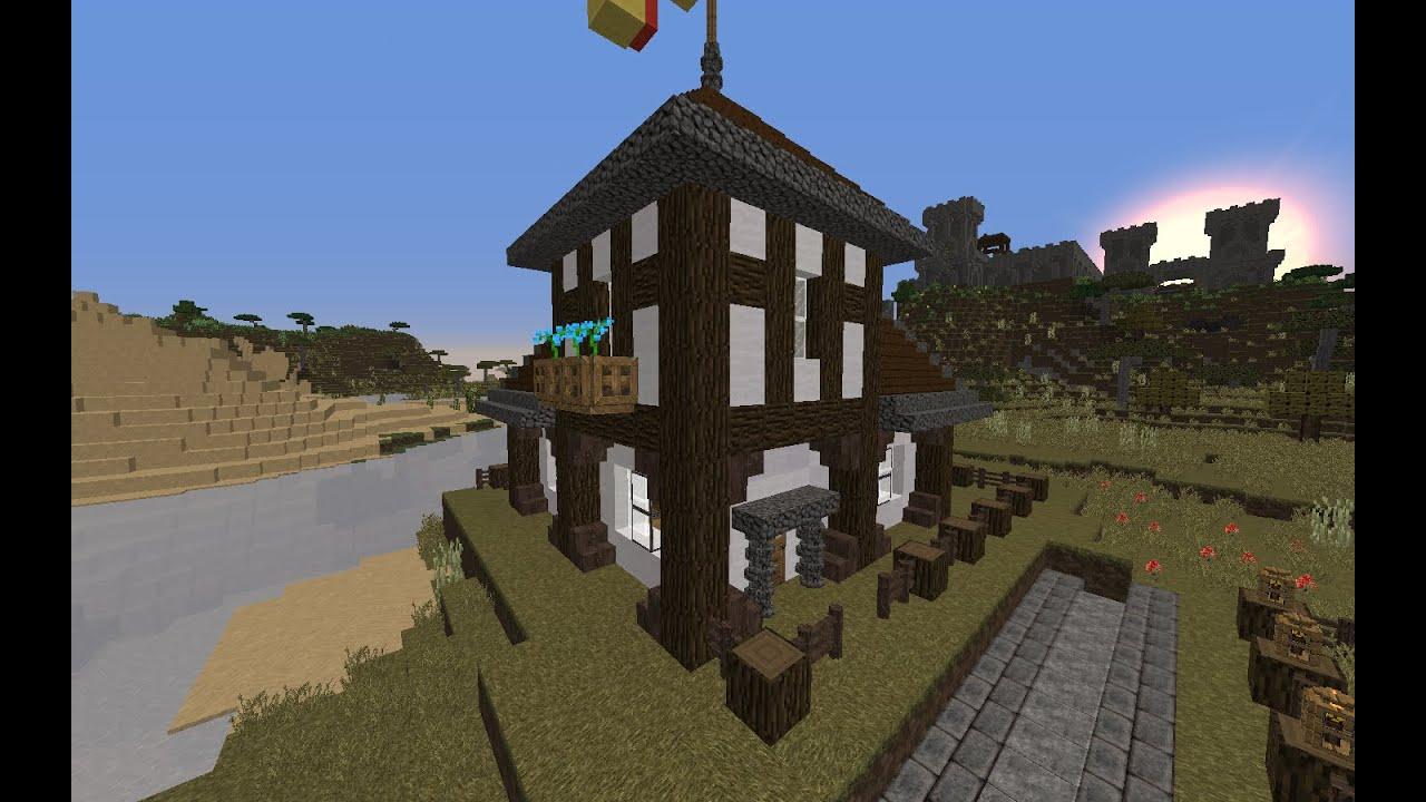 Minecraft deutsch mittelalter fachwerkhaus teil 2 deko und - Minecraft inneneinrichtung ...