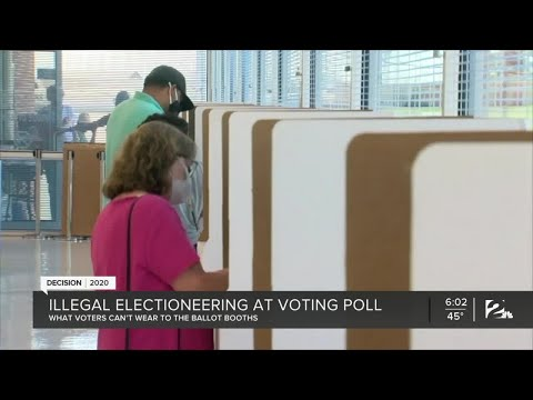 Illegal electioneering at voting polls