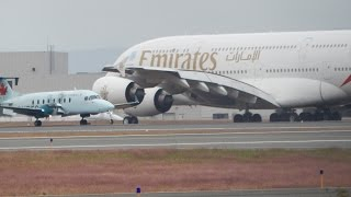 [HD] Emirates A380-800 and Others - Cloudy Bradley International Airport Spotting